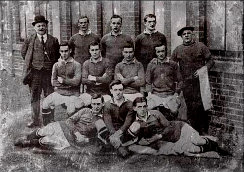An entire soccer team from the Heart of Midlothian Football Club in August 1914