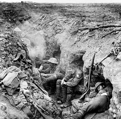 British soldiers in the Battle of Somme