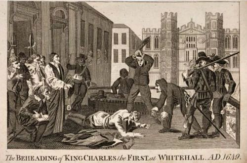 The beheading of Charles 1. in 1649