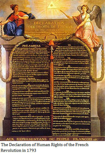 The Declaration of Human Rights of the French Revolution in 1793