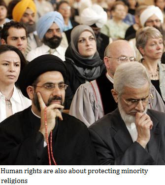 Human rights are also about protecting minority religions