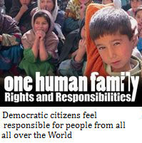 Democratic citizens feel responsible for people from all over the World