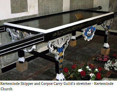 Kerteminde Skipper and Corpse Carry Guild's The stretcher - Kerteminde Church