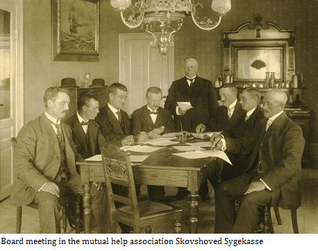 Board meeting in Skovshoved Sygekasse